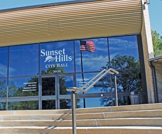Sunset Hills City Hall Front Entrance